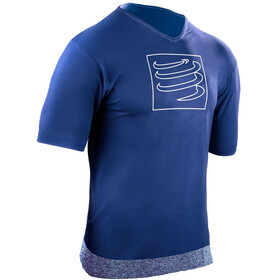 Compressport Training Maglietta da corsa blu